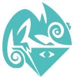 Il logo dell'Opportunesimo rappresenta un camaleonte che approfitta di una Trinità ormai sottosopra.