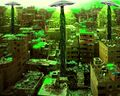 Il Cairo con dischi volanti che scaricano rifiuti radioattivi.jpg