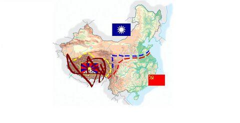 5 aprile 1927: approfittando della fase di stallo un membro del PCC imbratta e vandalizza la bandiera e il territorio del Tibet con una bomboletta spray. Contemporaneamente Chian Kai Shek si accorge del pacco mollatogli pochi giorni prima e tenta di rivendere le baionette a pile al Pakistan.