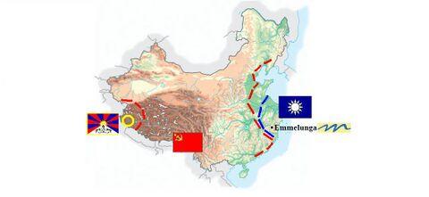 18 gennaio 1934: il Kuomintang, per esser rimasto troppo tempo nello store Emmelunga, perde il possesso dei territori acquisiti precedentemente, che vengono in gran parte riconquistati dalle armate di Mao. Anche il Tibet ne approfitta ritagliandosi un minuscolo territorio fra due monti sconosciuti dell'Himalaya. Ormai Mao Zedong sembra avere in pugno la situazione.