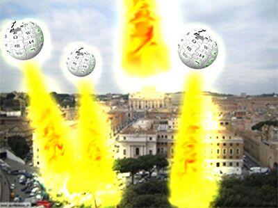 Astronavi di Wikipedia distruggono Roma.jpg